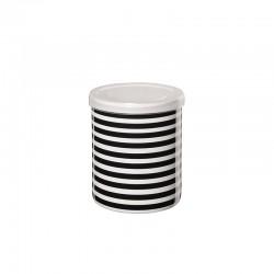 Bote Riscas Horizontales ø9,5cm - New Memphis Blanco Y Negro - Asa Selection