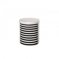 Jar Horizontal Stripes ø9,5cm - New Memphis White And Black - Asa Selection