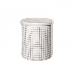Jar Squares ø13,5cm - New Memphis White And Black - Asa Selection