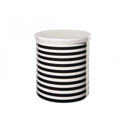 Bote Riscas Horizontales ø13,5cm - New Memphis Blanco Y Negro - Asa Selection