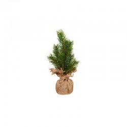 Mini Pinheiro Artificial de 25cm - Quadro Verde E Castanho - Asa Selection