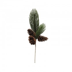 XL Branch of Pinetree with Cone - Deko Green And Brown - Asa Selection