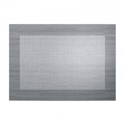 Individual de Mesa Prata e Preto Metalizado - Pvc Prata/preto Metalizado - Asa Selection