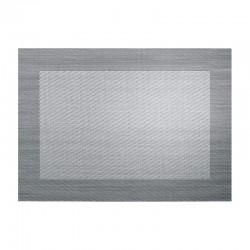 Mantel Individual - Pvc Plata/negro Metálico - Asa Selection