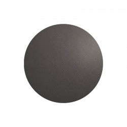 Placemat Round - Leder Basalt - Asa Selection