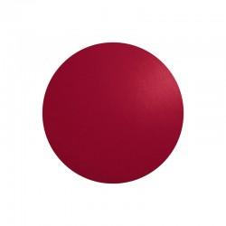 Individual De Mesa Redondo - Leder Vermelho - Asa Selection