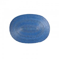 Mantel Individual Óvalo - Makaua Azul Claro - Asa Selection