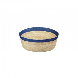 Bowl Round L - Makaua Brown And Dark Blue - Asa Selection