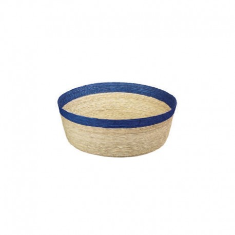 Bowl Round L - Makaua Brown And Dark Blue - Asa Selection ASA SELECTION ASA79114058