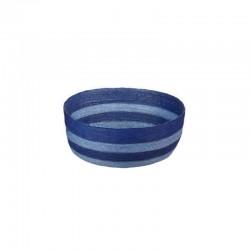 Cesto Redondo L - Makaua Azul Claro E Escuro - Asa Selection