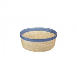 Bowl Round M - Makaua Brown And Light Blue - Asa Selection