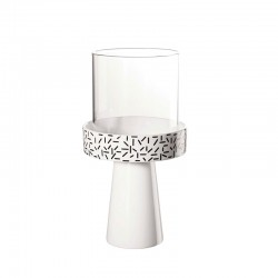 TeaLight Holder Strokes ø11,8cm - New Memphis White And Black - Asa Selection