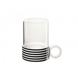 TeaLight Holder Stripes ø8,4cm - New Memphis White And Black - Asa Selection
