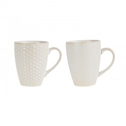 Set Of 2 Mugs - Linna White - Asa Selection