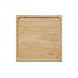 Wooden Tray Square - Black Tea Steel - Asa Selection