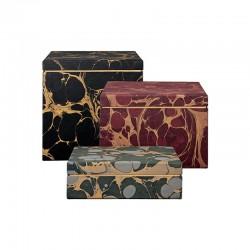 Cajas De Almacenamiento (3Un) - Nubila Multicolor - Aytm