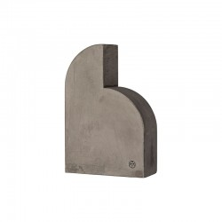 Sculpture/Bookend 21,5Cm - Moles Dark Grey - Aytm