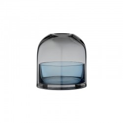 Lantern For Tealight Ø10Cm - Tota Black And Navy - Aytm