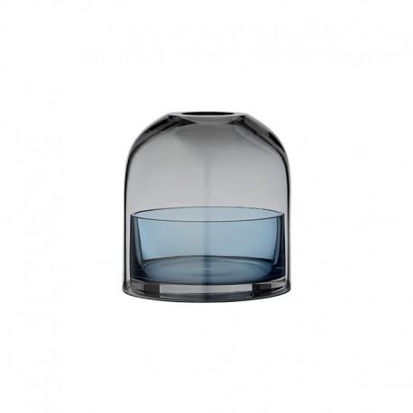 Lanterna Para Vela Tealight Ø10Cm - Tota Preto E Azul Marinho - Aytm | AYTM