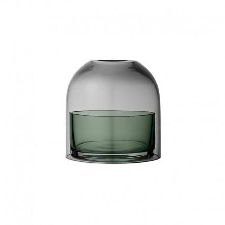 Lanterna Para Vela Tealight Ø10Cm - Tota Preto E Verde - Aytm | AYTM