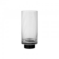 Vase Ø11Cm - Vitreus Clear And Black - Aytm