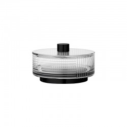 Jar With Lid Ø13Cm - Vitreus Clear And Black - Aytm AYTM AYT501009000010
