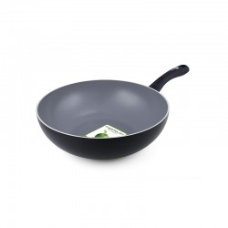 Wok Ø28Cm - Sofia Magneto Black And Grey - Green Pan