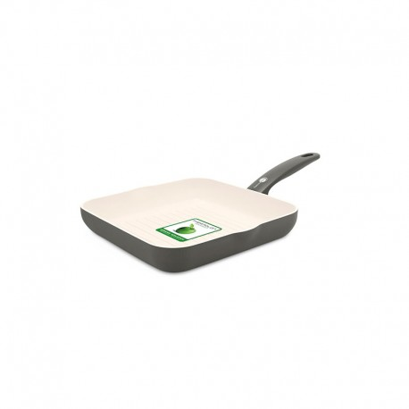 Square Grill Pan - Cambridge Cream And Grey - Green Pan GREEN PAN CW001531-002