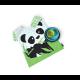 Kid´S Panda Set - Bambino Grey (plate), Lagoon (bowl), Lime (cup) - Biobu BIOBU EKB33782