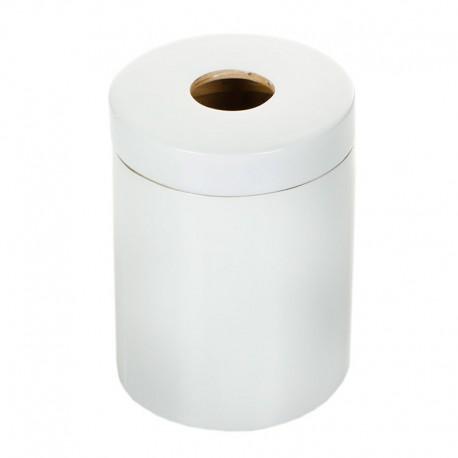 Cubo De Basura White Ø18X25 Cm Blanco - Ekobo Handmade |Cubo De Basura White Ø18X25 Cm Blanco - Ekobo Handmade