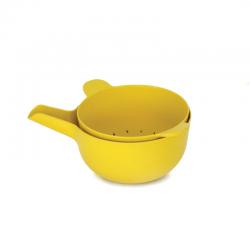 Taça Multiusos + Escorredor Pequeno - Pronto Amarelo (limão) - Biobu