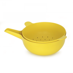Large Bowl + Colander - Pronto Lemon - Biobu