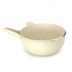Large Bowl + Colander - Pronto White - Biobu