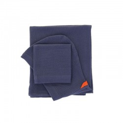 Baby Towel Set - Bambino Midnight Blue - Ekobo Home