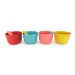 Conjunto Para Gelados - Bambino Coral, Turquesa, Amarelo (limão) E Vermelho - Biobu
