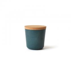 Frasco Pequeno Com Tampa - Gusto Azul Esverdeado - Biobu