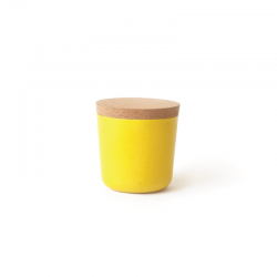 Frasco Pequeno Com Tampa - Gusto Amarelo (limão) - Biobu