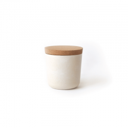 Small Storage Jar - Gusto White - Biobu