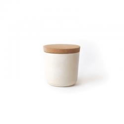 Small Storage Jar - Gusto White - Ekobo BIOBU EKB9030