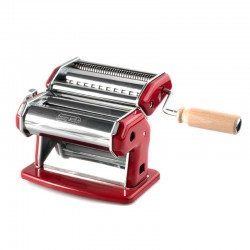 Manual Pasta Machine (2Cutters) 150mm - Ipasta Red - Imperia