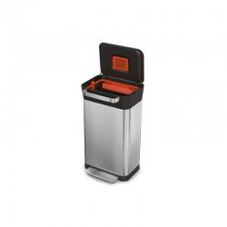 Balde do Lixo Compactador - Titan 30 Prata - Joseph Joseph