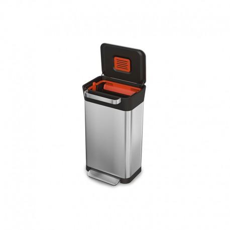 Cubo de Basura Compactador - Titan 30 Plata - Joseph Joseph JOSEPH JOSEPH JJ30030