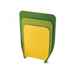 Set of 3 Chopping Boards Green - Nest Chop - Joseph Joseph