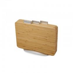Conjunto de 3 Tábuas de Cortar - Index bamboo Castanho - Joseph Joseph