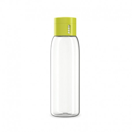 Water Bottle With Hydration Counting Lid - Dot Green - Joseph Joseph | Water Bottle With Hydration Counting Lid - Dot Green -...