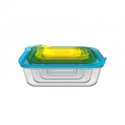 Conjunto de 4 Caixas de Vidro - Nest Glass Transparente - Joseph Joseph JOSEPH JOSEPH JJ81060
