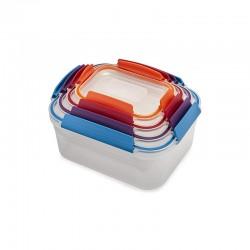 Set de 4 Contenedores para Alimentos - Nest Lock Multicolorido - Joseph Joseph