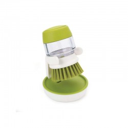 Escova Com Distribuidor - Palm Scrub Branco E Verde - Joseph Joseph | JOSEPH JOSEPH