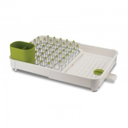 Expandable Dish Drainer - Extend White And Green - Joseph Joseph