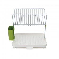 Self-Draining Dish Rack (Y-Rack) White And Green - Joseph Joseph